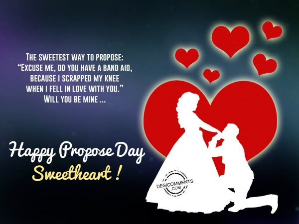 The Sweetest way to Propose, Happy Propose Day