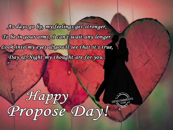 As days go, Happy Propose Day
