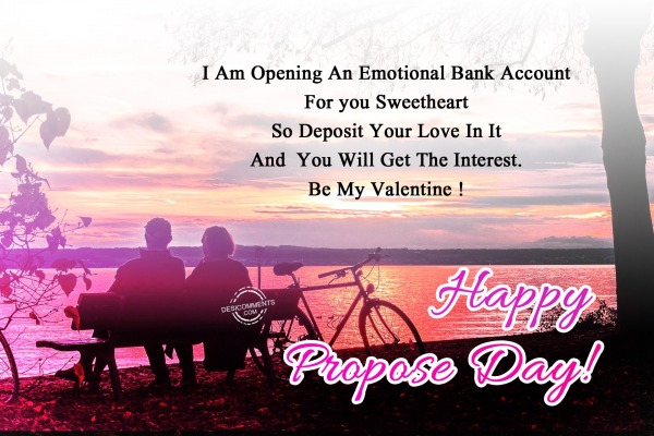 I am opening an emotional, Happy Propose Day