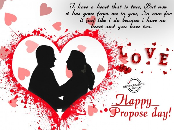 I have a Heart that, Happy Propose Day