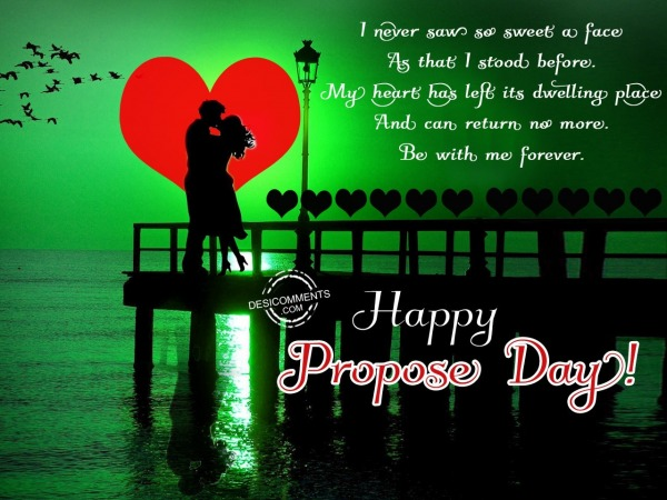 Picture: I never saw so sweet face, Happy Propose Day