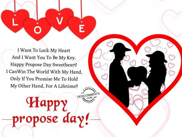 Picture: I want to lock my heart, Happy Propose Day