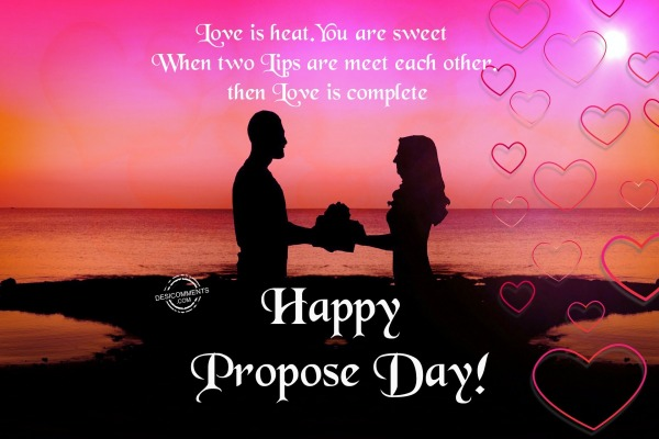 Picture: Love is heat, Happy Propose Day