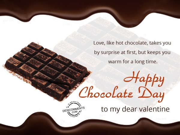 Love like hot chocolate, Happy Chocolate Day
