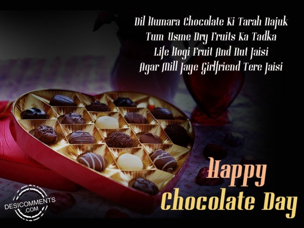 Dil humara chocolate ki tarha najuk, Happy chocolate Day