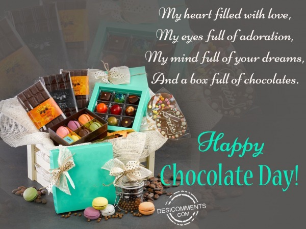Picture: My heart filled with love, happy chocolate day