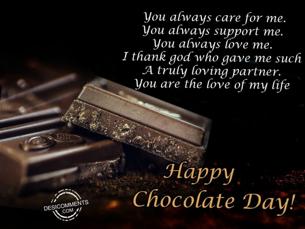 Picture: You always care for me, Happy chocolate day