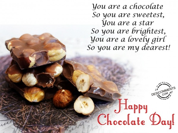Picture: You are a chocolate, Happy chocolate day