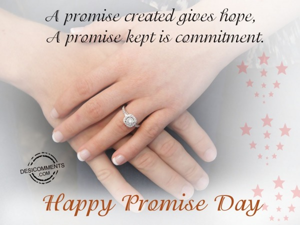 A promise created gives hope, Happy promise day