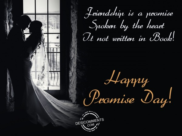 friendship is a promise, Happy promise day