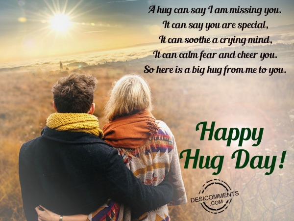 Picture: A hug can say i am missing you, Happy hug day