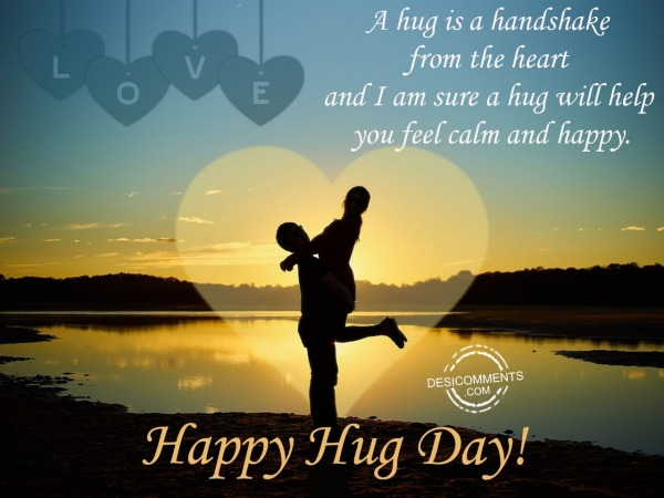 Picture: A hug is a handshake,Happy hug day