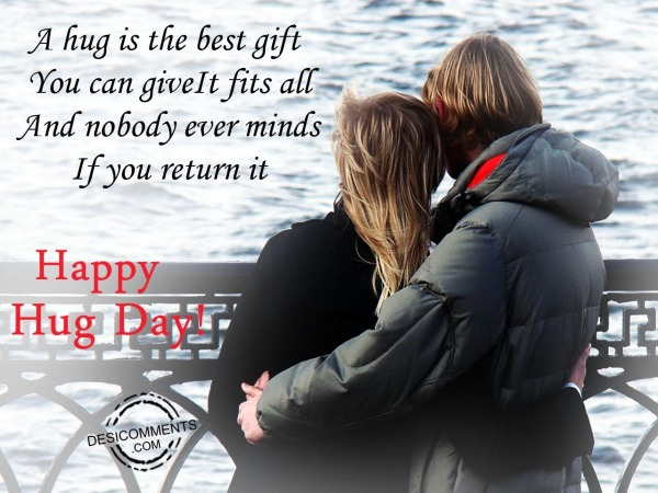 Picture: A hug is the best gift,happy hug day