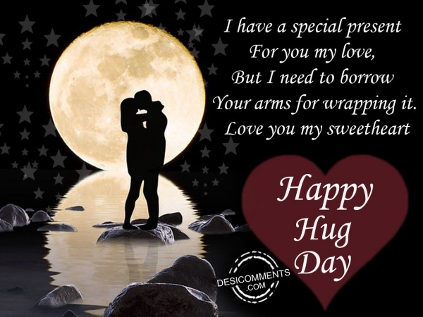 Picture: I have a special present, Happy hug day