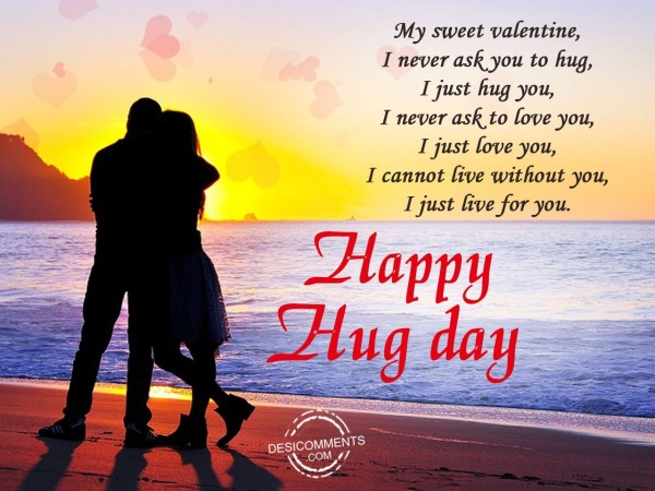 Picture: My sweet valentine, Happy hug day