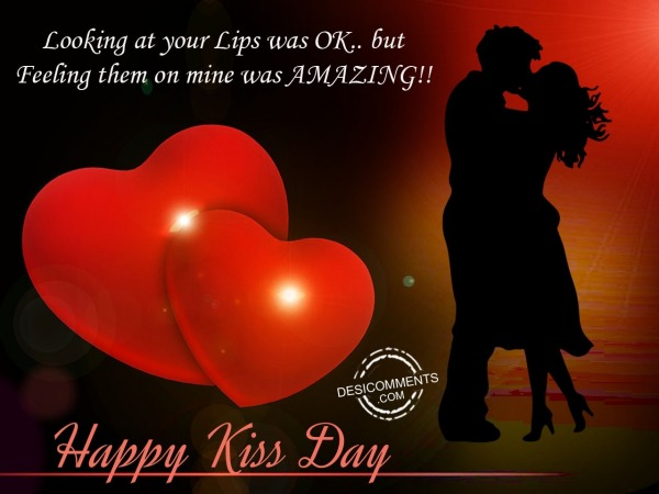 Picture: Looking at your,Happy kiss day