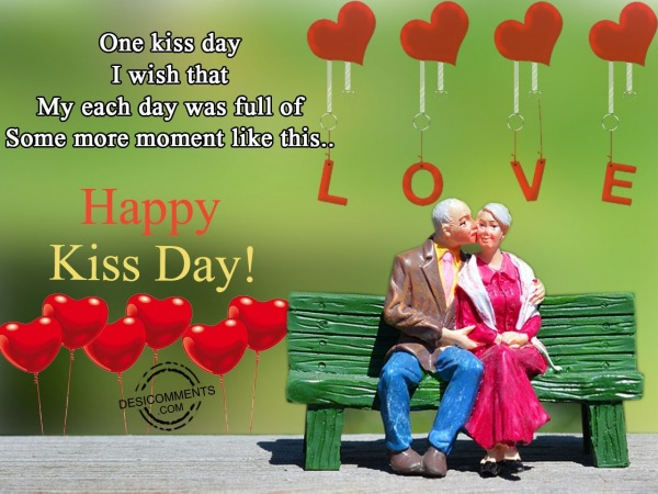 One kiss day i wish that, Happy kiss day