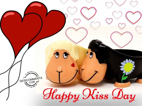 Very happy kiss day
