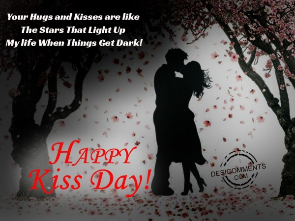 Your hugs and kiss, happy kiss day