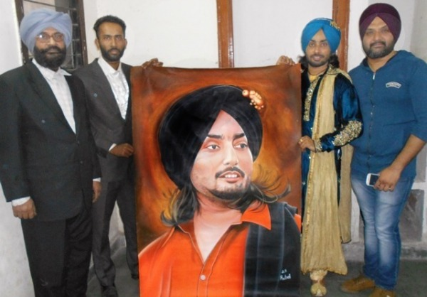 Painting of Sufi Singer Satinder Sartaaj