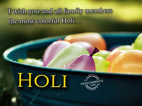 Picture: I wish you Happy Holi