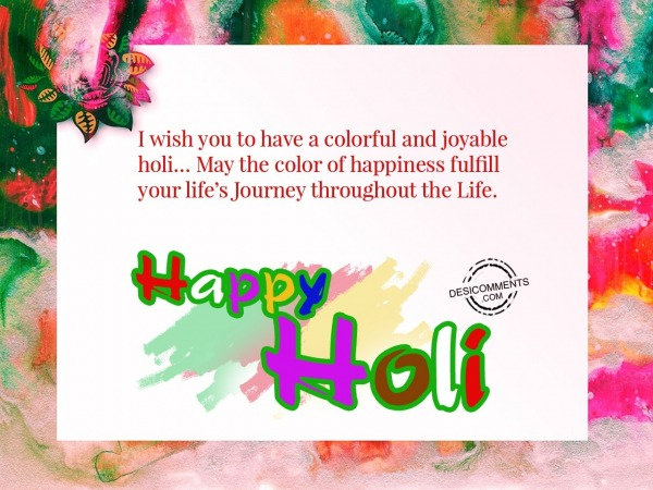 Picture: I wish to have colorful Holi, Happy Holi