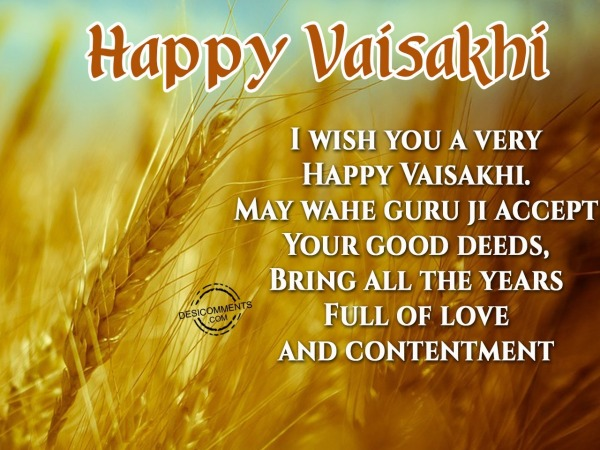 Picture: I wish you a very – Happy Vaisakhi