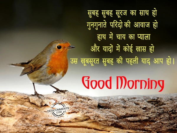 Picture: Subha subha suraj ka sath ho – Good Morning