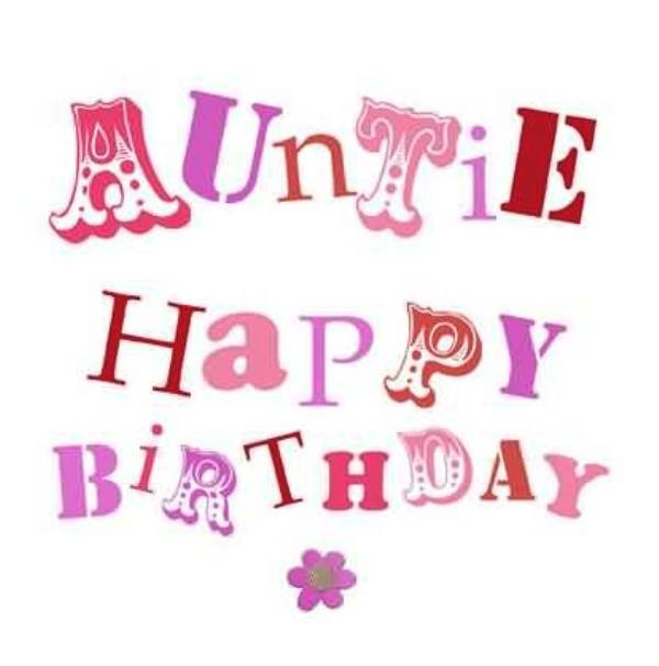 Picture: Auntie Happy Birthday