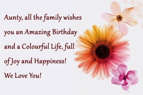 Picture: Aunty All The Family Wishes You An Amazing Birthday