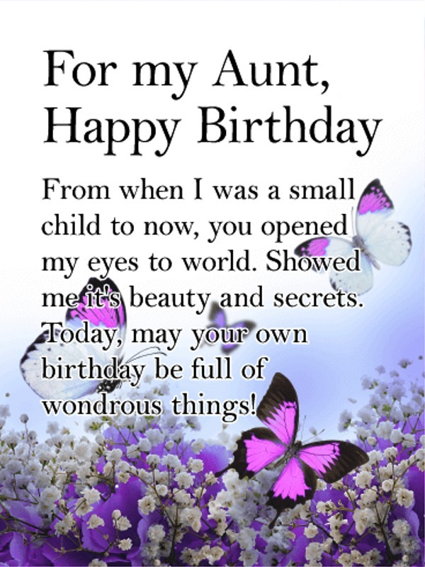 Picture: For My Aunt Happy Birthday