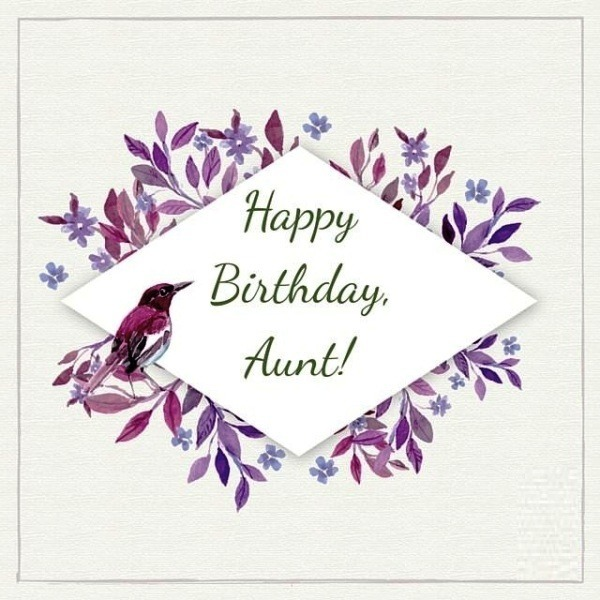 Picture: Happy Birthday Aunt Pic
