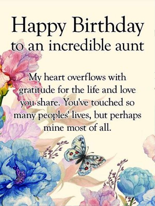 Picture: Happy Birthday To An Incredible Aunt