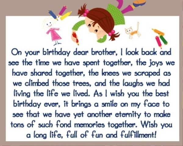 Picture: On Your Birthday Dear Brother