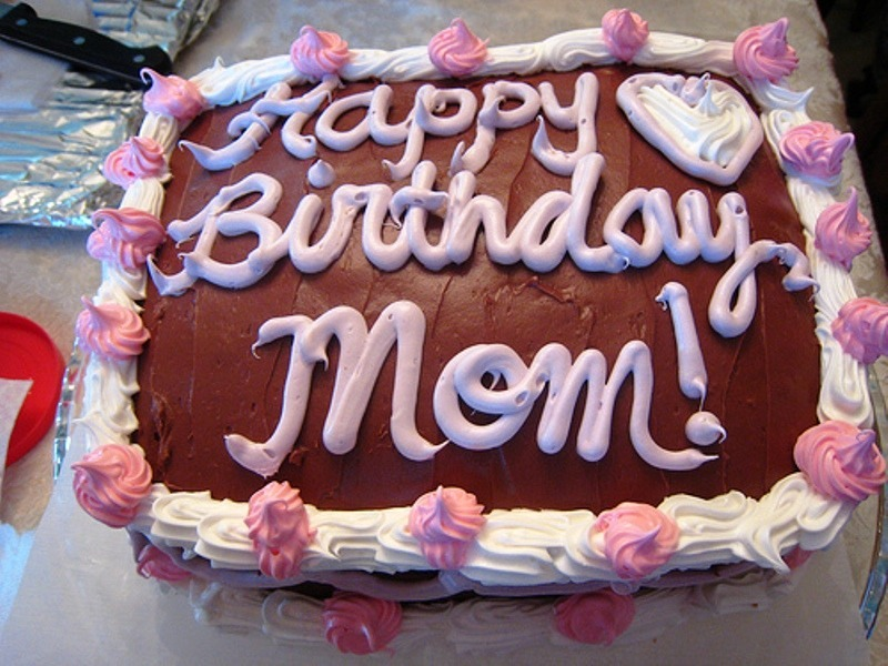 Incredible Happy Birthday Mom With Cake Desicomments Com Personalised Birthday Cards Veneteletsinfo
