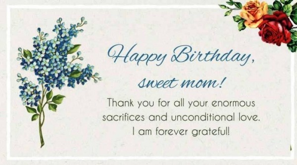 Picture: Happy Birthday Sweet Mom