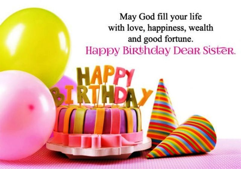 Birthday Wishes for Sister Pictures, Images, Graphics