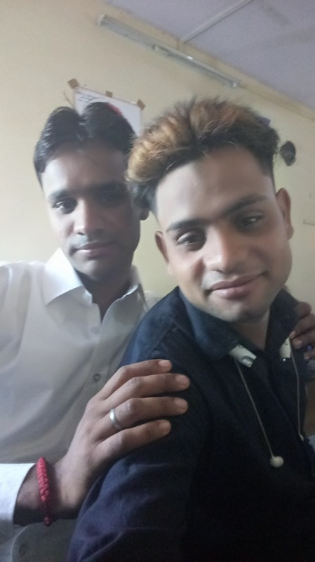 Picture: Shyam Bhawan Yadav With His Friend
