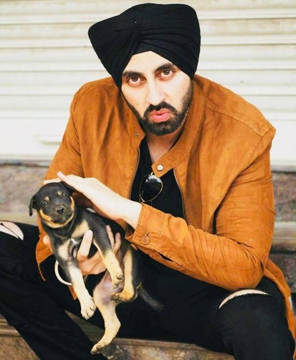 Picture: Simarjeet Singh With Puppy