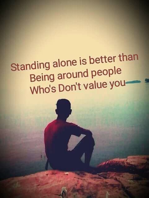 Picture: Standing Alone Is Better