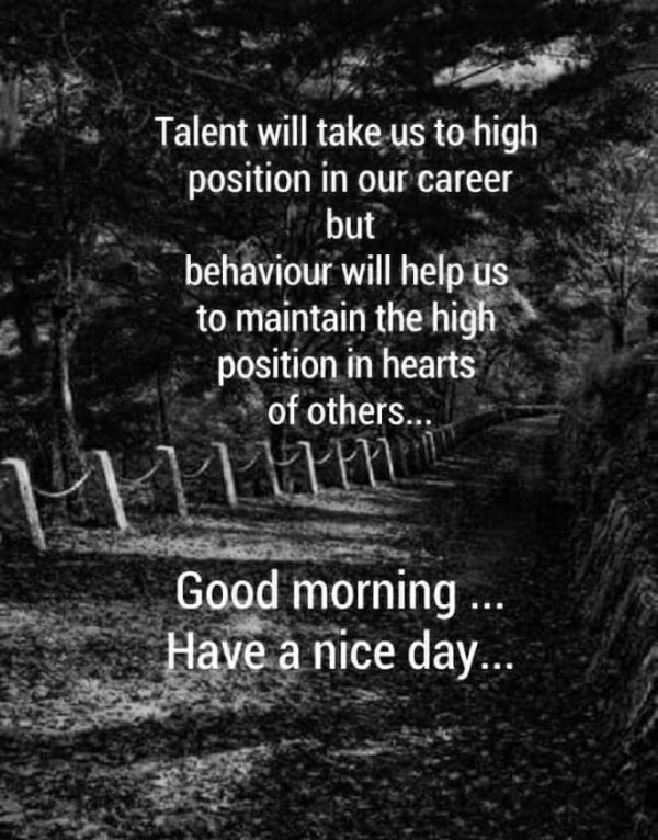 Talent Will Take Us To High Position