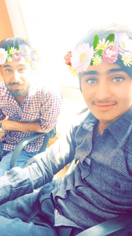 Danish Khan With His Friend Photo