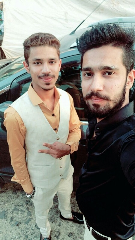Picture Of Danish Khan With His Friend