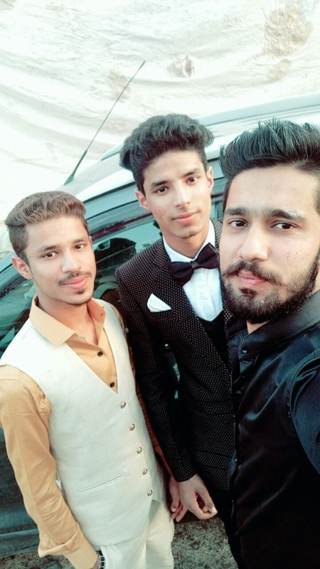 Danish Khan With His Friends