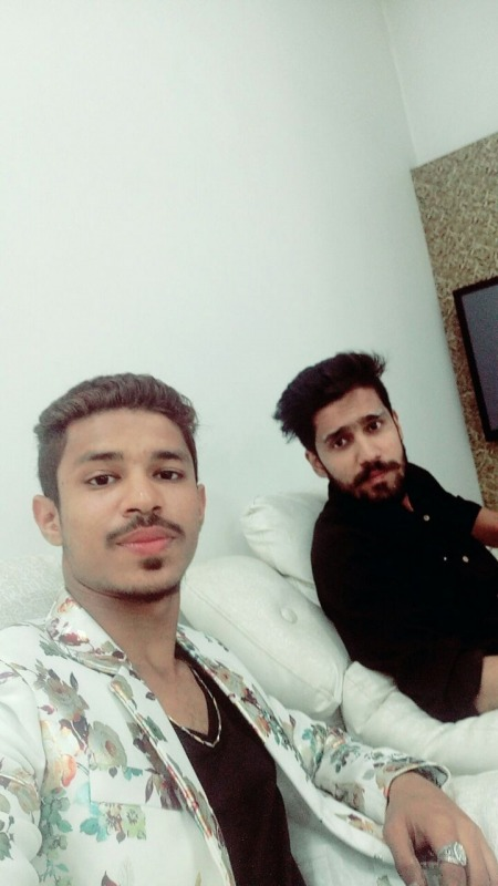 Danish Khan With His Friend