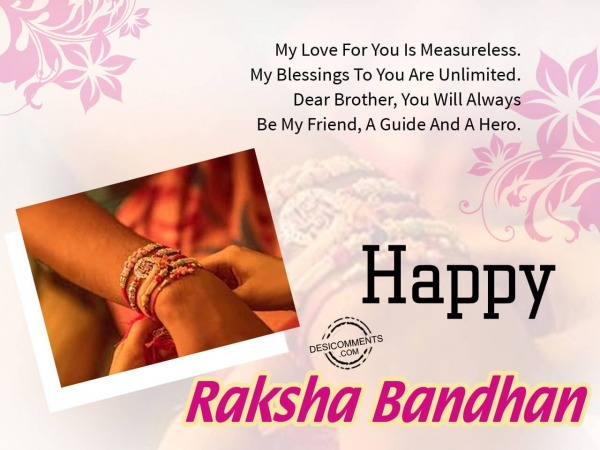 My love for you, Happy Raksha Bendhan