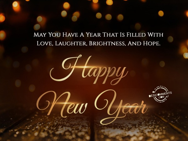 Picture: May you have a year that is filled with love, Happy New Year