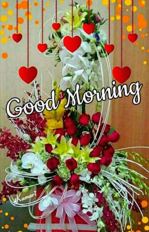 Picture: Good Morning With Flower Bouquet