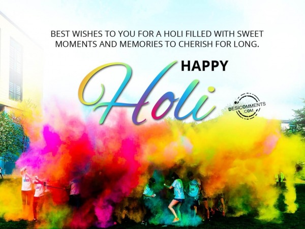Best wishes to you, Happy Holi