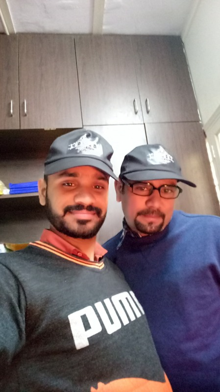 Picture: Shyam Bhawan Yadav With Friend